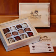 Twelve Aroha Chocolate Truffles